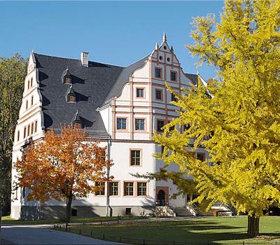 Beispiel: Schloss im Herbst, Foto: Renaissanceschloss Ponitz.