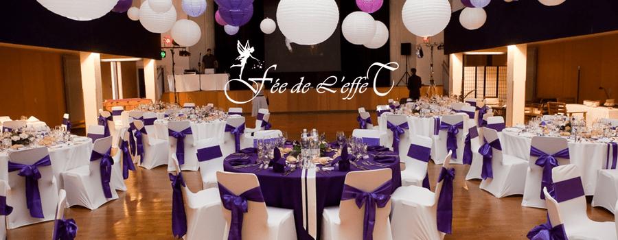Fée de l'effet - Décoration de Mariage violet