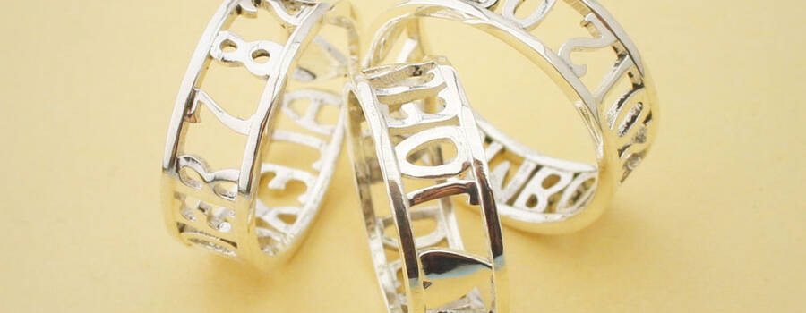 Open Rings met persoonlijke tekst