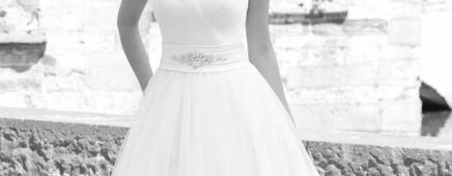 Beispiel: Elegantes Brautkleid, Foto: Brautstudio Sposa Favola.