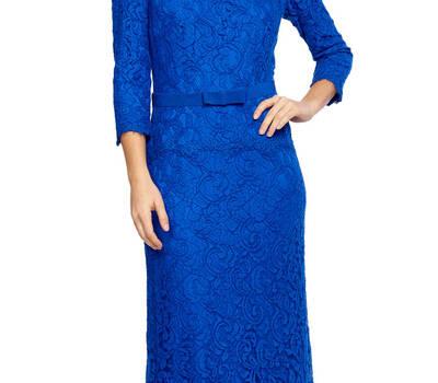 Elegante y perfecto vestido largo de encaje en azul klein perfecto para madrinas : http://www.dresseos.com/alquiler-vestidos-para-fiesta-boda-o-evento-formal/vestidos-largos/vestido-corto-azul-drapeado-tadashi-shoji-001