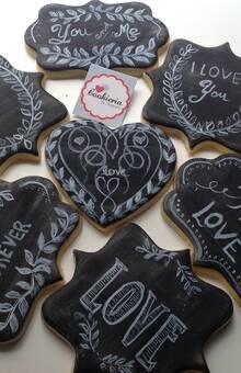 Biscoitos Tipo Placa, Acabamento Lousa Tamanho médio 10 cm