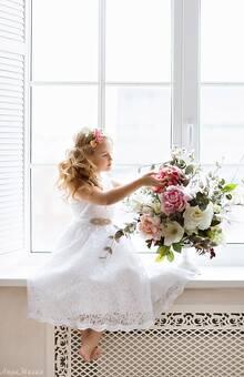 Детское платье на свадьбу, для маленькой принцессы или flower girl.