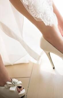 Sapatos de noiva branco