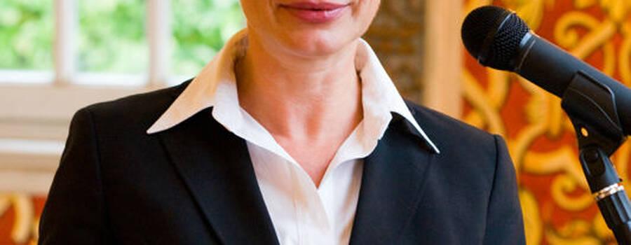 Beispiel: Freie Rednerin, Foto: Elke Janoff.