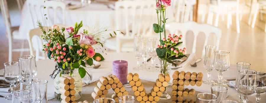 Mariage A&J - Décoration de table