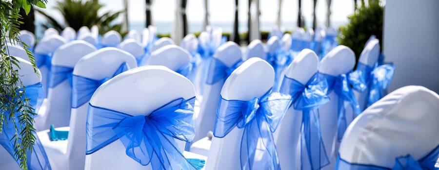 Detalles azules zona invitados