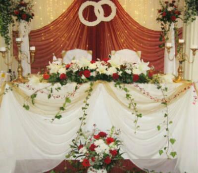 Beispiel: Hochzeitsdekoration, Foto: Millennium Palast.
