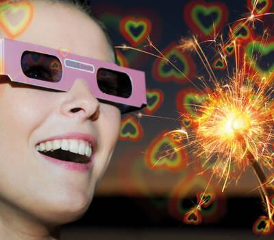 Beispiel: Blick durch Rosabrille Herz, Foto: Rosabrille.