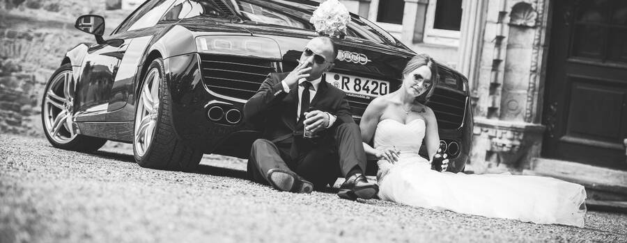 Beispiel: Brautpaarshooting, nicht nur romantisch, Foto: Hochzeitsfotografie Thomas Göbert