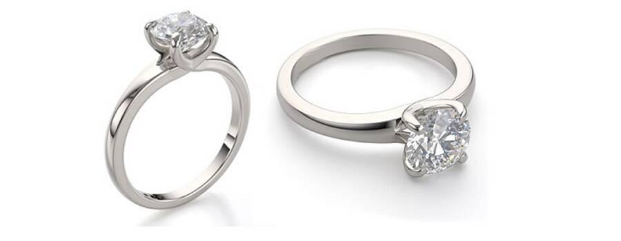 anillos de compromiso clásicos