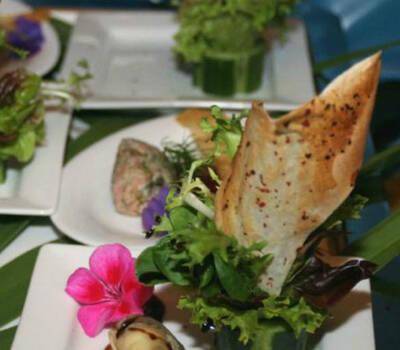 Beispiel: Vorspeise, Foto: Hoffmann Gastronomie & Catering.
