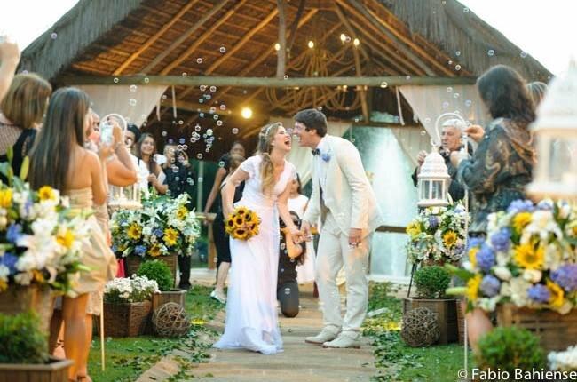 O momento mais feliz: enfim casados!