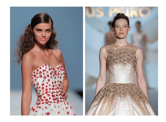 Vestidos de novia primavera 2015 con un asomo de color