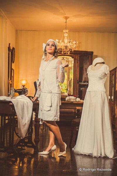 Vestido vintage inspirado nos anos 20