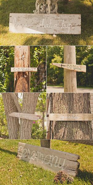 Utiliza troncos en la ambientación de tu boda - Foto: Sweet Little Photographs