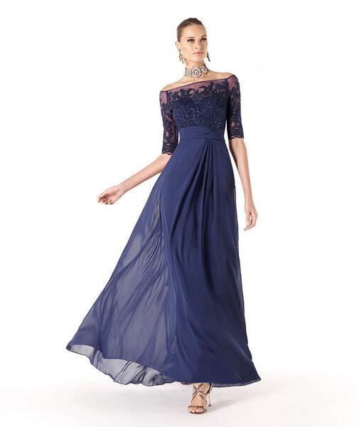 Damas Azul Rey Dama de Boda en Color Azul
