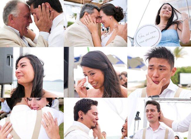 Não só a noiva, mas o noivo, os pais e muitos convidados emocionados! Foto: Mira Cerviño.