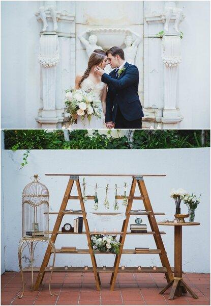 Un mariage fantaisiste et féerique.