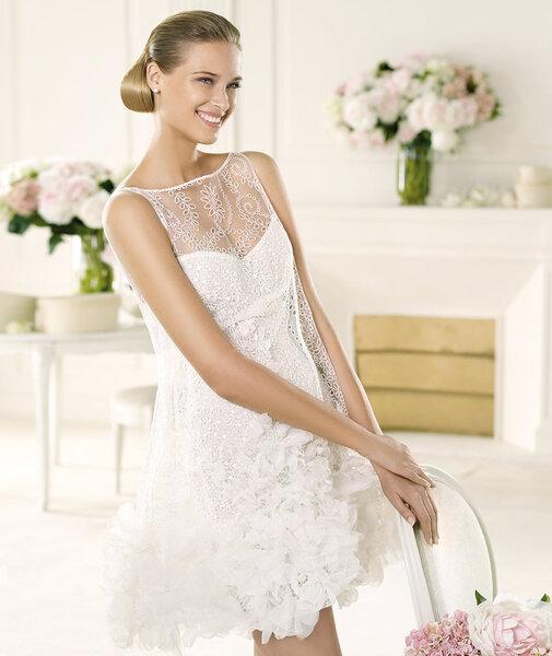 10 vestidos de novia cortos para una boda civil