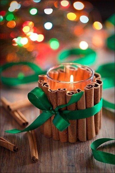 Kerzen mit Zimt