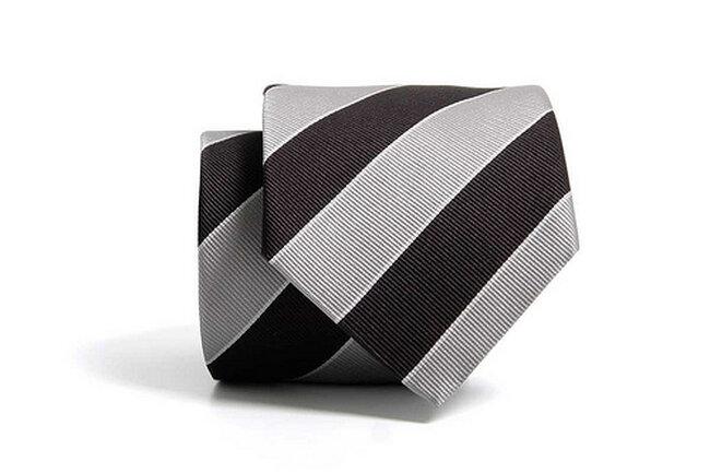 Corbata rayas negra y gris