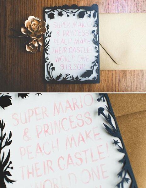 Convite de casamento inspirado no jogo. Foto: Leuha Noelle