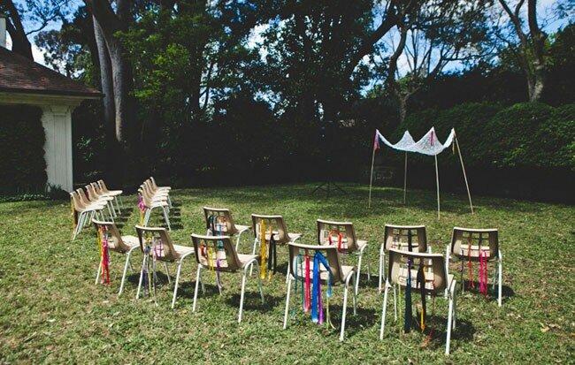 Decoración de boda en jardín