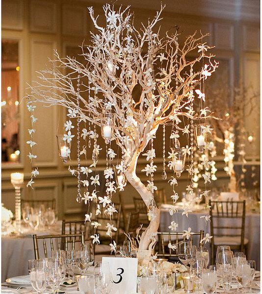 Increíbles centros de mesa con detalles iluminados - Foto: Bob and Dawn Davis