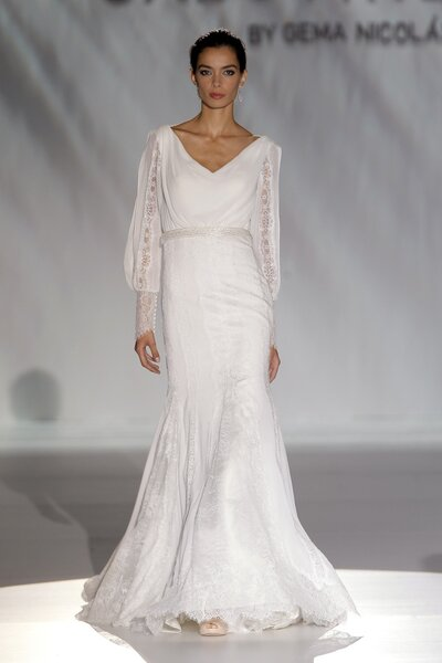 Vestido de novia primavera 2015 con mangas largas - Foto Cabotine