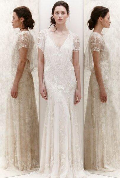 Suknia ślubna projektu Jenny Packham, wiosna 2013