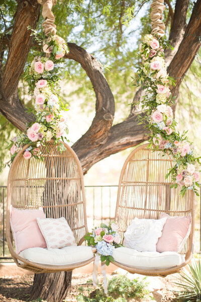 Precioso rincón decorativo para la boda.