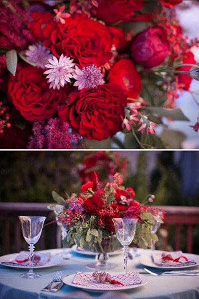 Fleurs et centres de table flashy