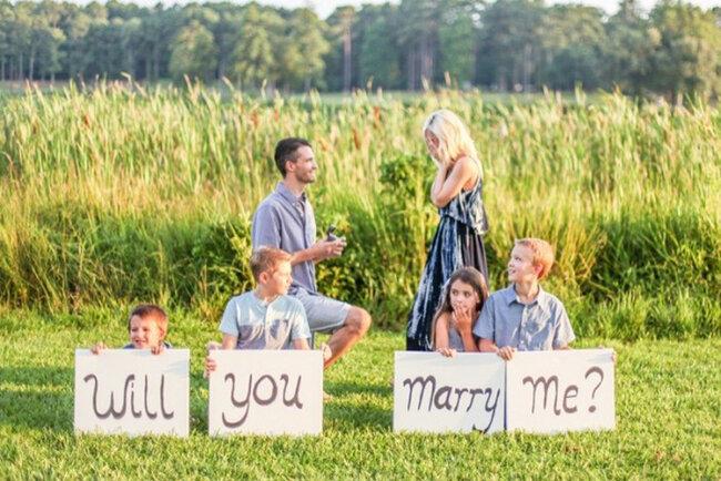 Petición de matrimonio original.