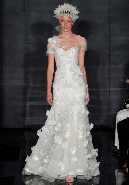 Vestido de novia de Reem Acra - Otoño 2012