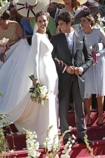 Eva González y Cayetano Rivera recién casados.