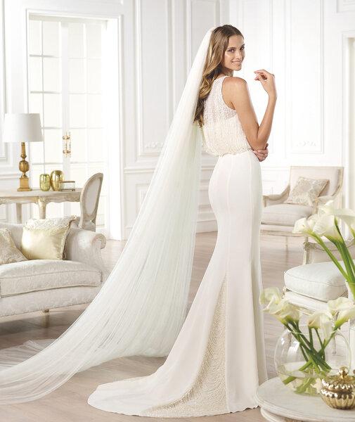 Jouez,la sexy avec une robe de mariée coupe sirène