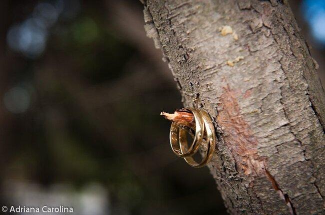 Fotos originais e criativas das suas alianças de casamento. Foto Adriana Carolina