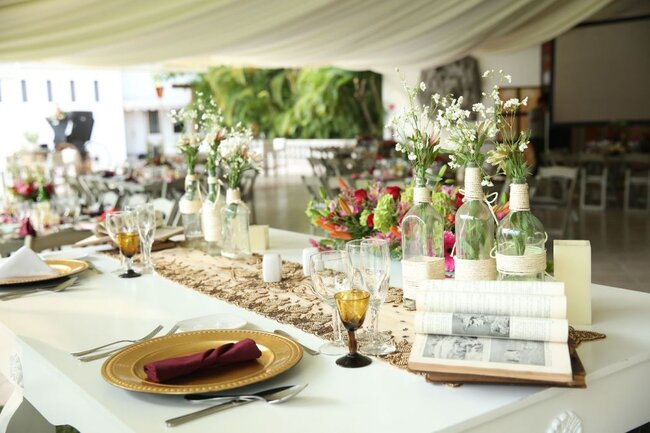 Vajillas para boda. Jardín Terraza El Despertar