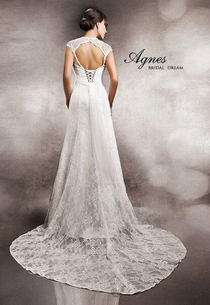 Koronkowa suknia ślubna bez pleców1274