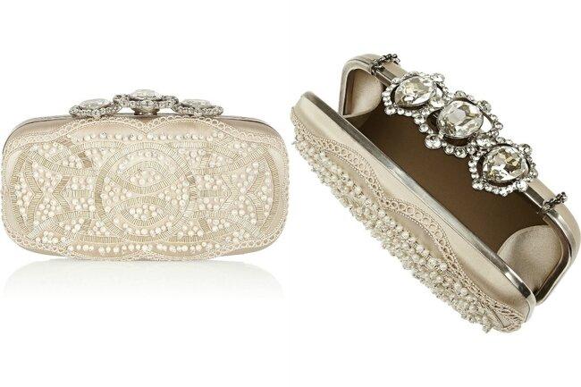 Een klassieke clutch met jewelen details: Door Oscar de la Renta