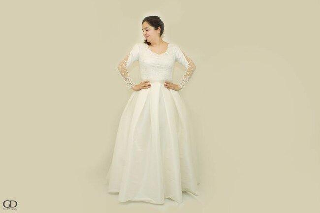 Vestidos de novia escore redondo 2017