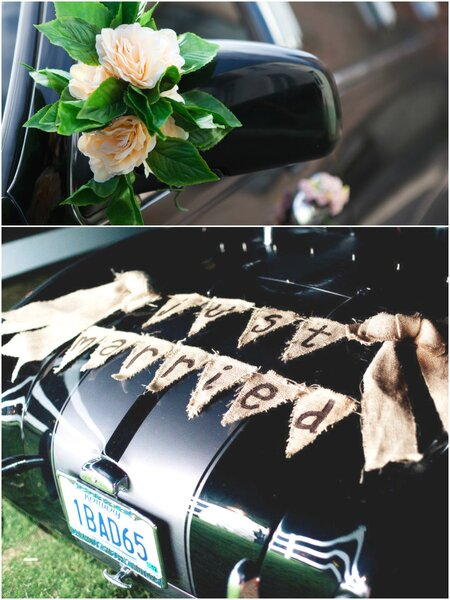 Decoracion Retrovisor Coche ~ Decoraci?n con banderines y flores en el retrovisor