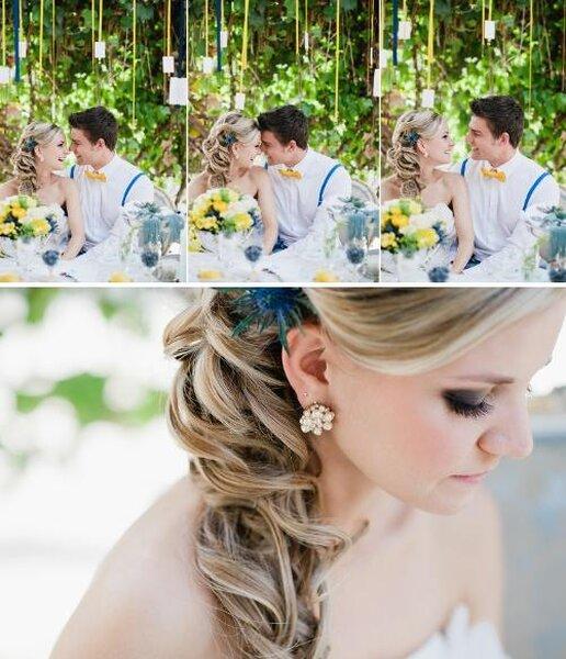 Inspiration de mariage Bleu & Jaune