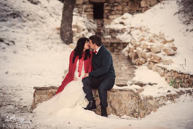 Romantisme sous la neige.