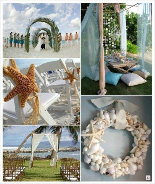 D corations de mariage sur le th me de la mer - Decoration sur la mer ...