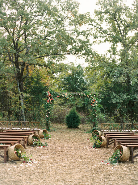 Decoración de boda rústica 2017.