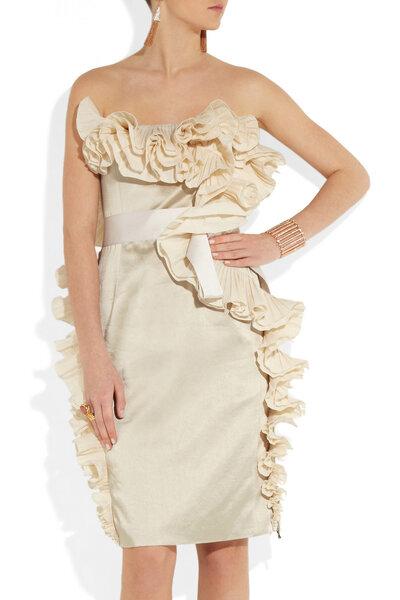 Los volados cobran vida en un vestido de novia fuera de serie - Foto Lanvin