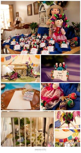 La decoración de la boda civil de Cha y Felipe estuvo caracterizada por objetos tradicionales mexicanos