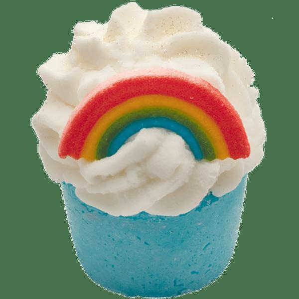 Bomba para baño Arcoiris con forma de cupcake